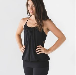 Lululemon Black No Limits Tank Top Activewear Athleisure Gym Yoga